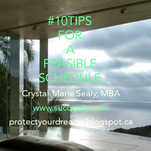 10 Tips for a Feasible Schedule. #10Tips10Days on LinkedIn