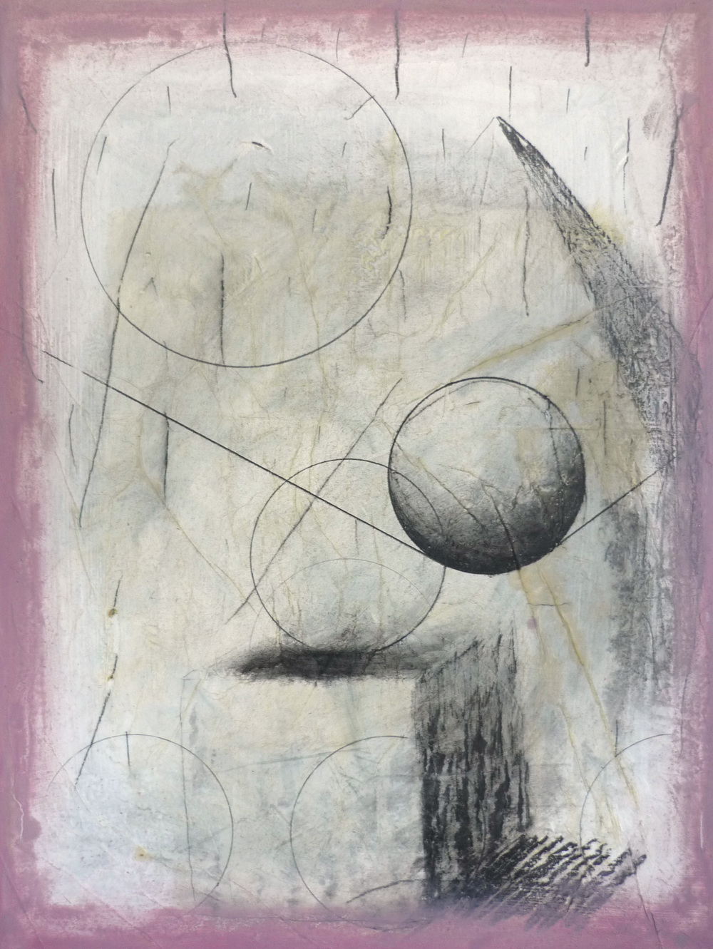 Function, 2013, Oil pencil and plaster on paper on panel, 53 x 40 cm