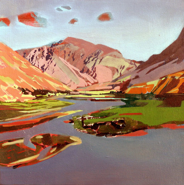 Afghanistan, 2011, Oil on canvas, 16 x 16 in