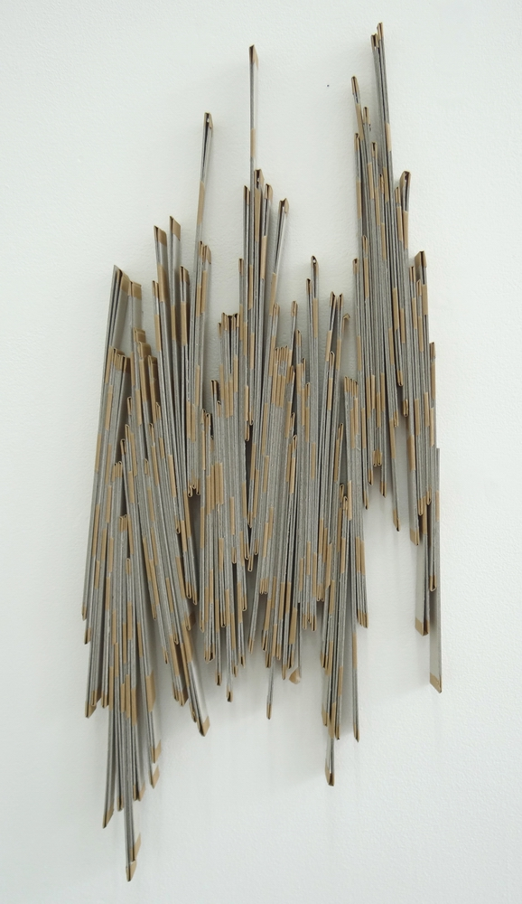 Zigzag, 2013, Grey card and gummed paper, 98 x 45 x 2.5 cm