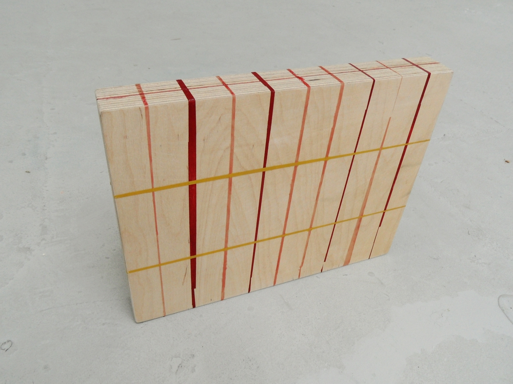 Block, 2012, Plywood, acrylic paint and PVA glue, 32 x 3 x 26cm