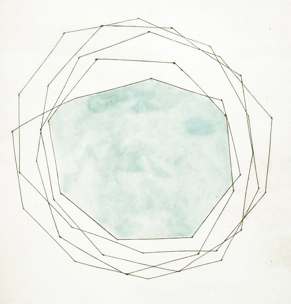 Blue Shape, 2012, Intaglio print on Somerset paper, 37 x 29 cm