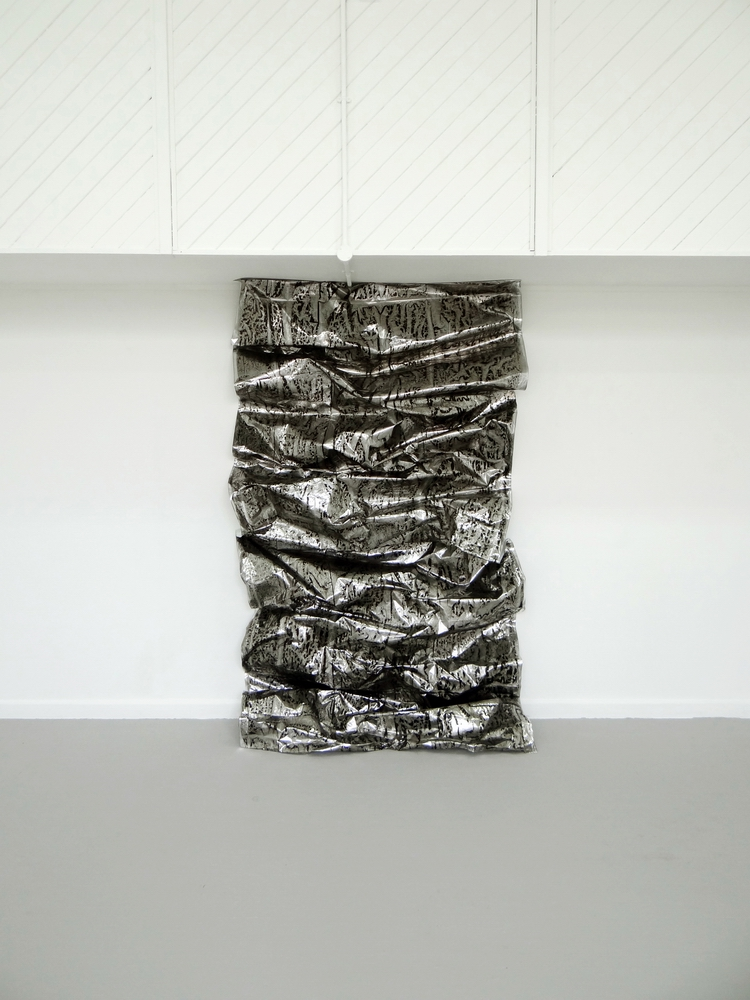 Made to Measure, 2013, Coated paper and drawing ink, 152 x 239 x 55 cm