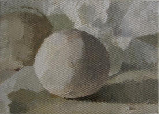 Wilderness (Small E), Claudia Carr, oil on canvas on board, 12 x 17.5 cm, £950