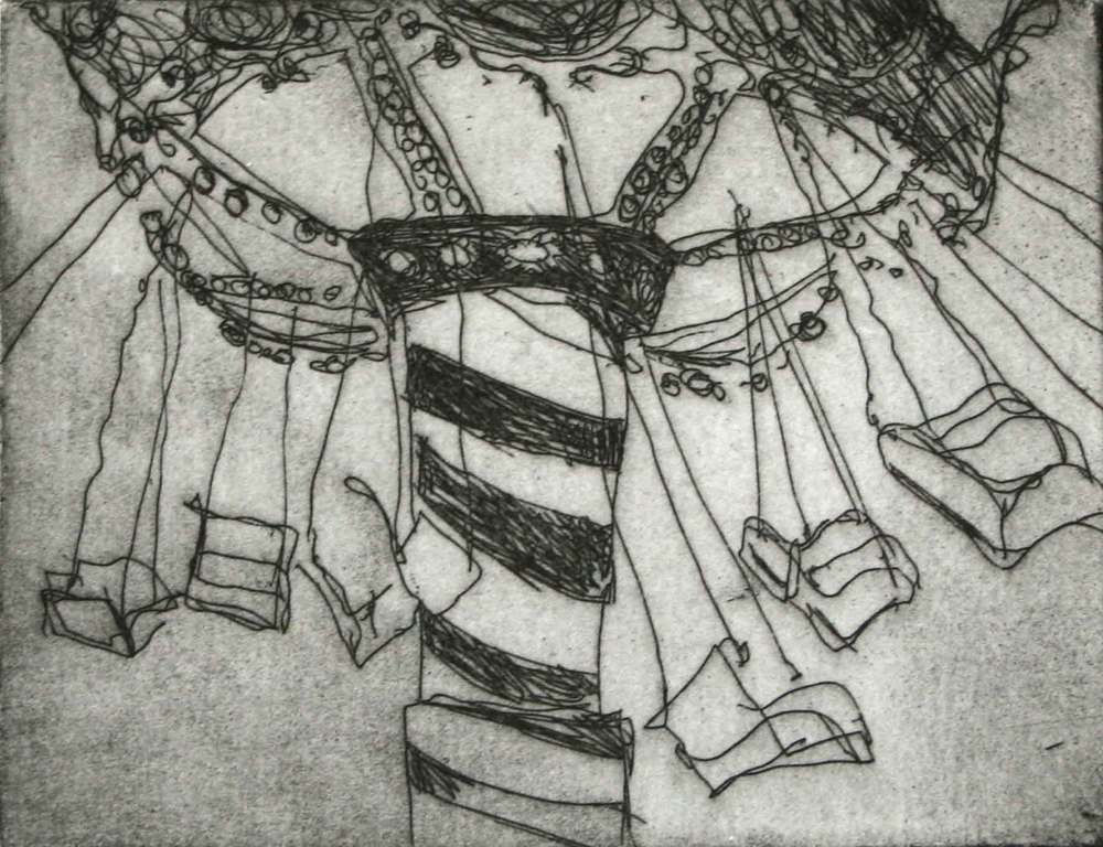 Swing, Tamsin Relly, etching, £190