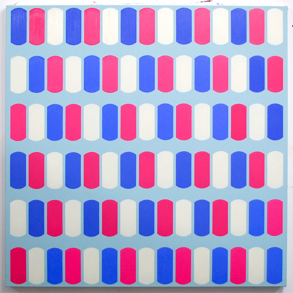 Scuta XVI, Chris Daniels, oil on canvas, 100 x 100 cm, £1,000