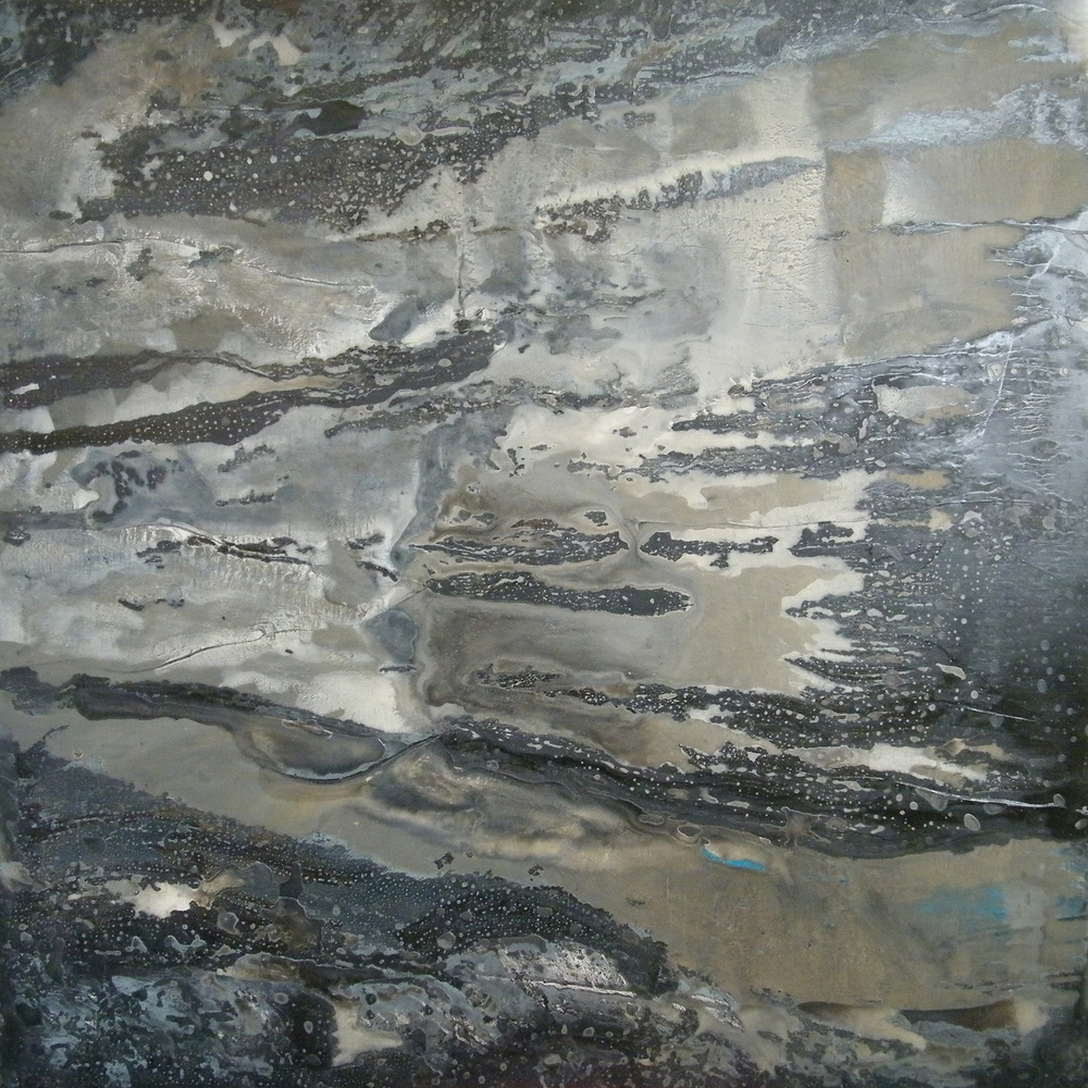 Sandsplash, 2012, oil and acrylic on canvas, 100 x 100 x 4 cm