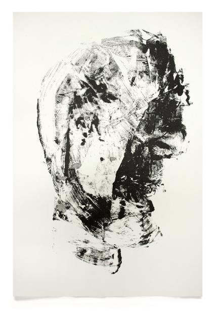 Stone Head, 2010,Whitney McVeigh (Acrylic on paper; 76 x 56 cm)