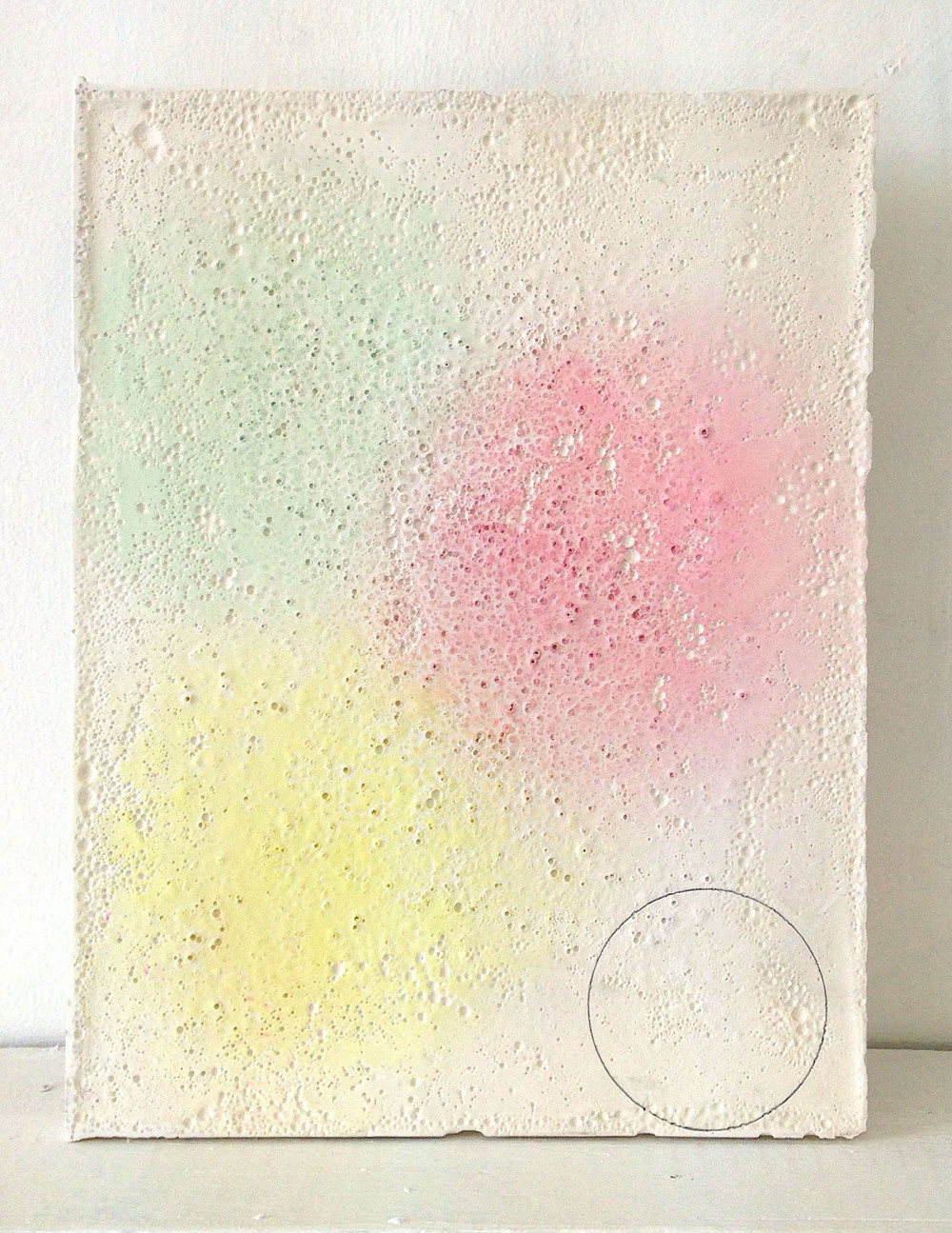 My Heart, 2015, Pencil, pastel and plaster, 29.5 x 22.5 cm