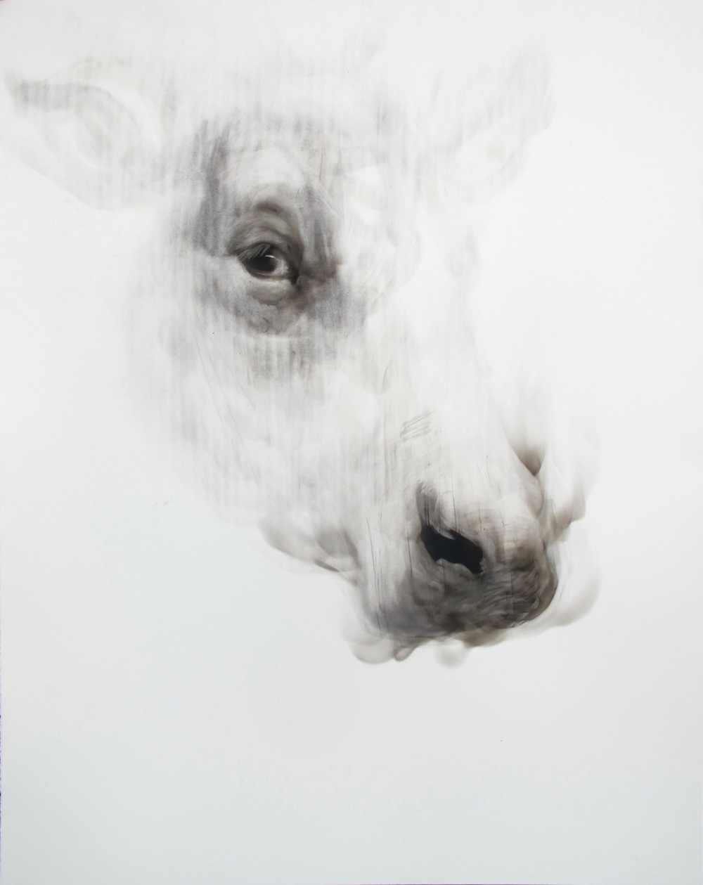 Diane Victor, Separating One's Sheep from One's Goats VIII (Smoke on Paper, I, I/I, 66 x 50.8cm)