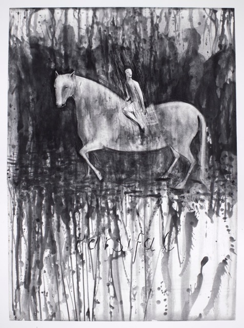 Deborah Bell, Parsifal II (Spitbite aquatint and drypoint, 20, 03/20, 120 x 89.5 cm)