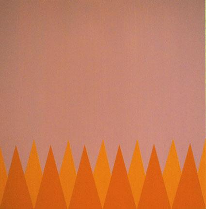Range, 2013,Oil and acrylic on canvas, 60 x 60 cm