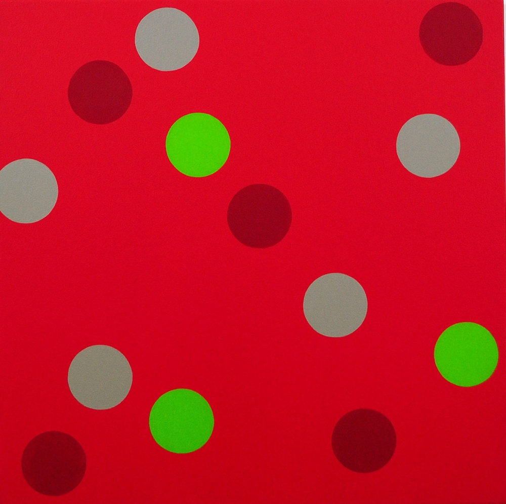 Circlus VIII, 2015,Oil and acrylic on canvas, 90 x 90 cm