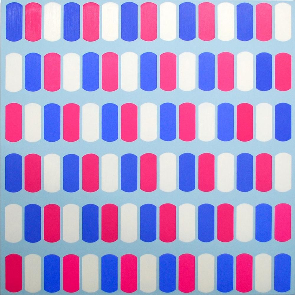 Scuta XVI, 2014,Oil and acrylic on canvas, 100 x 100 cm
