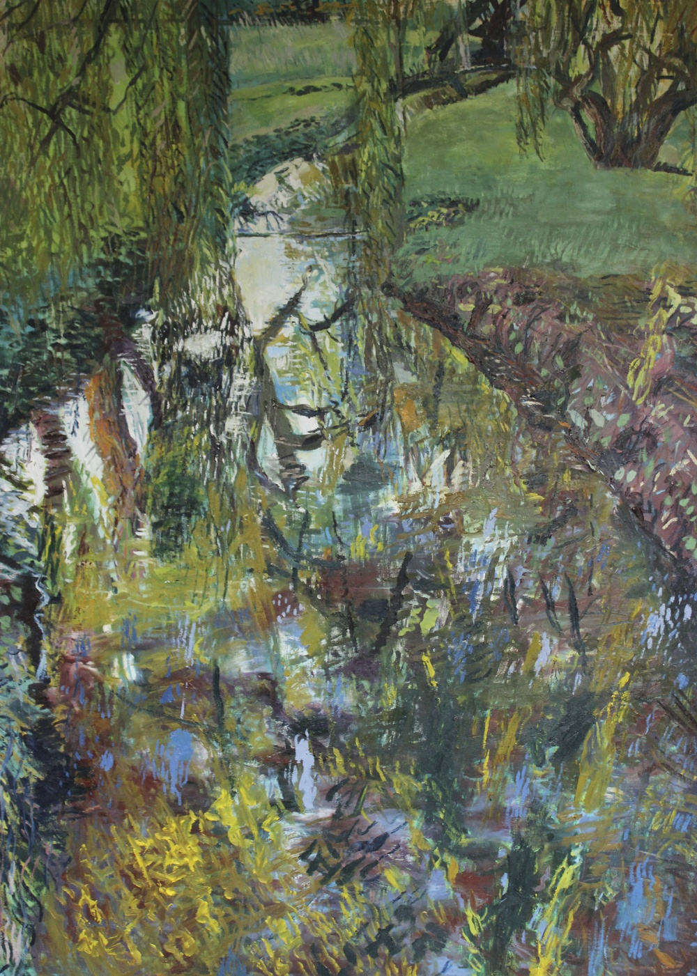 "Christchurch Summer (River at Burnham Thorpe), 2012, Oil on linen, 60"" x 48"""