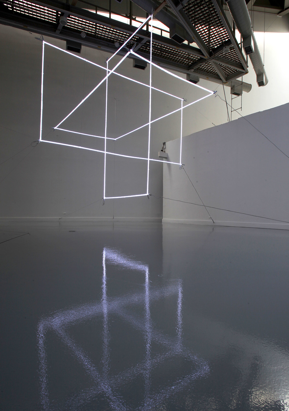 Platonic Spin, 2013, Neon, sequenced control system