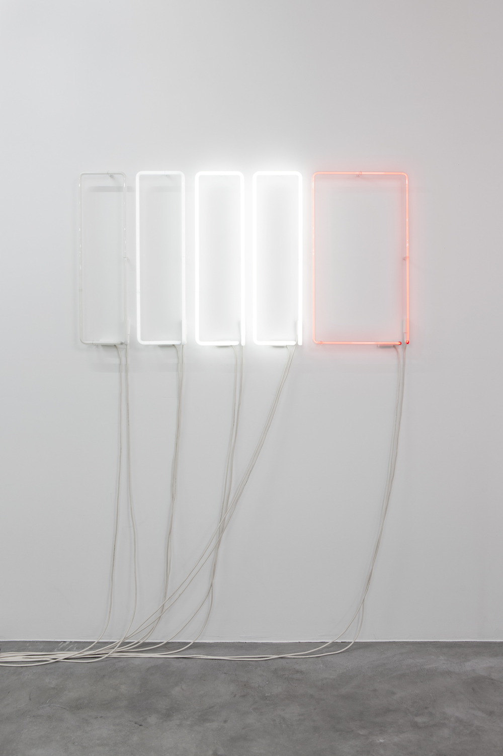 NLP3, 2013, Neon, sequenced control system, 70 x 130 cm