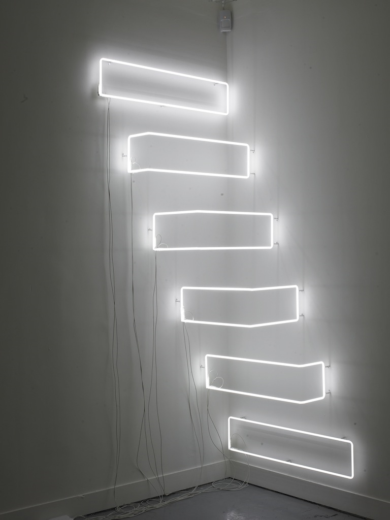 NLP2, 2008, Neon, sequenced control system, 100 x 100 x 200 cm