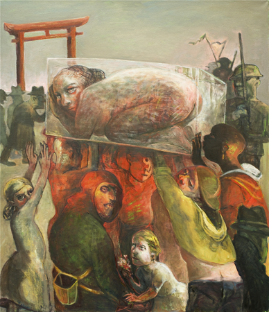Procession, 2013, Oil on Canvas, 112 x 97 cm
