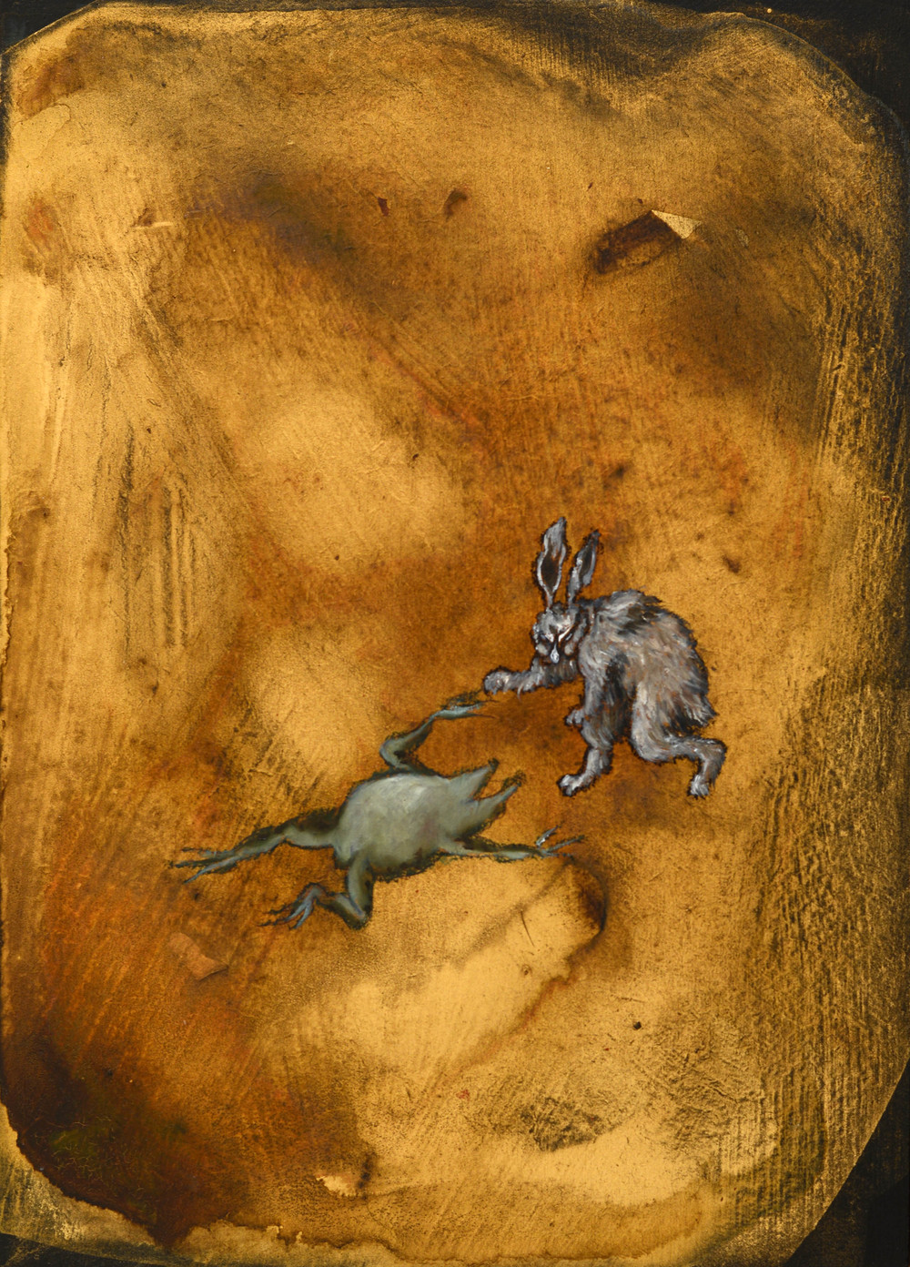 Fainted Frog Rabbit, 2013, oil and acrylic on board, 30 x 21.5 cm
