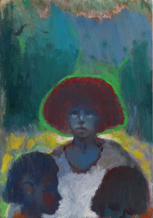 Holy Family, 2015, Acrylic on Paper, 25.5 x 18 cm
