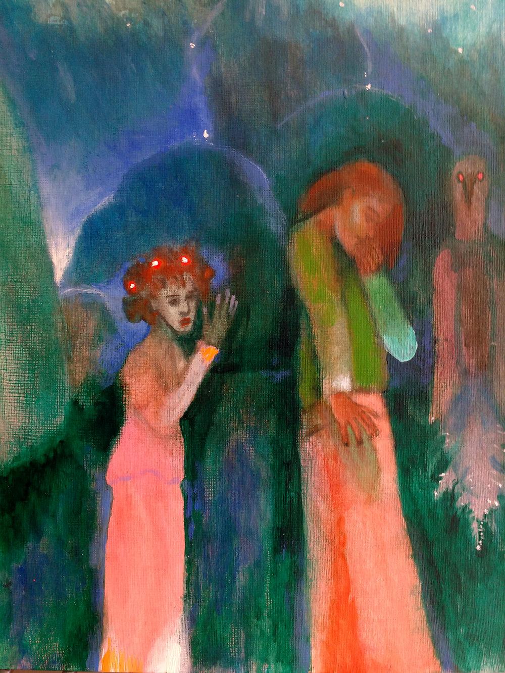 New Dawn, 2015, Acrylic on Paper, 40.5 x 30.5 cm