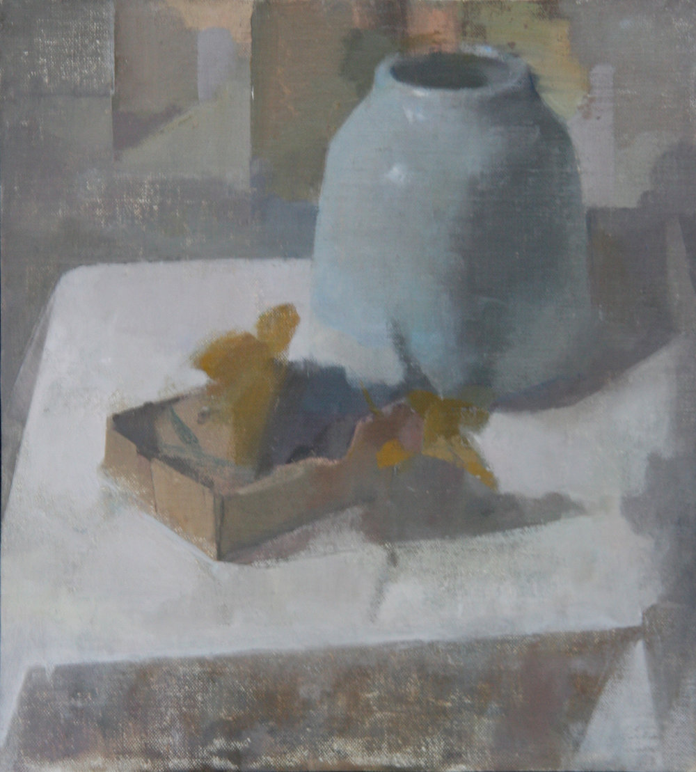 Still Life (Unbound), 2016, Oil on Linen, 28 x 31 cm