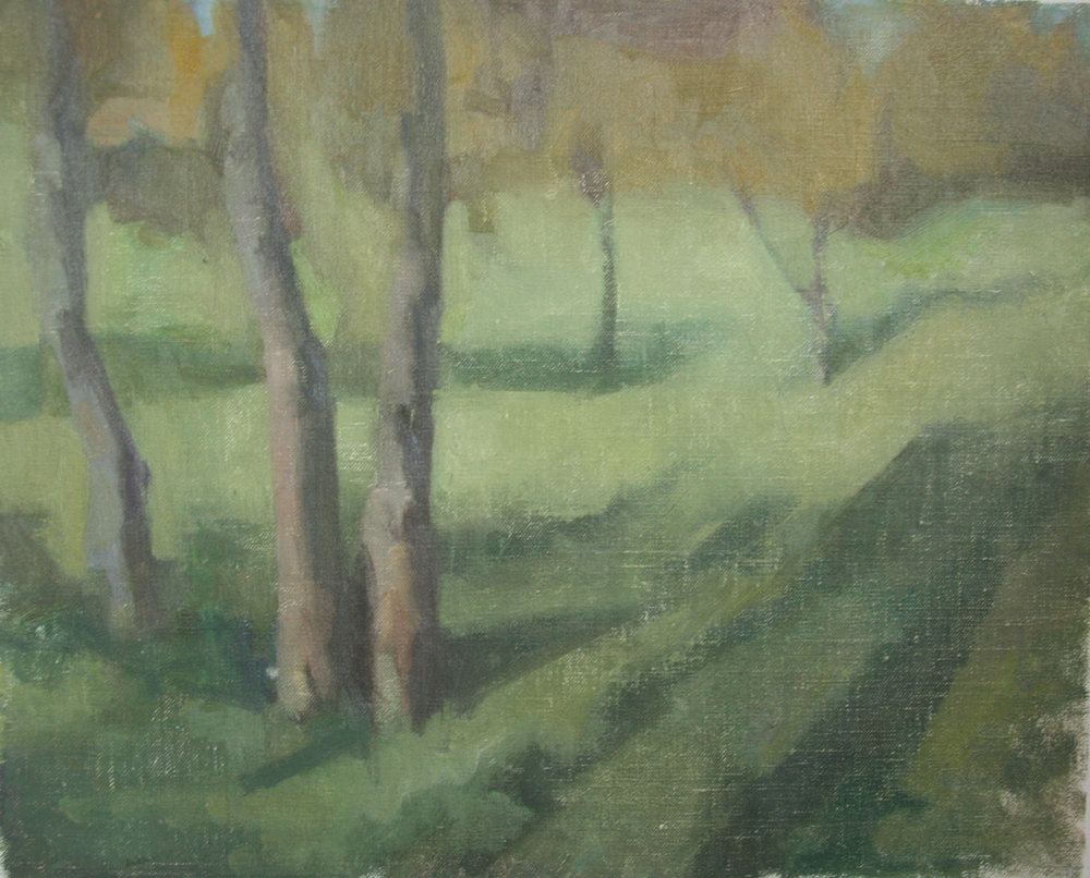 Untitled (Crystal Palace), 2014, Oil on Linen, 30 x 40 cm