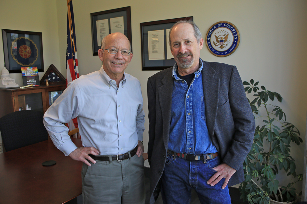 Brooks Fahy of Predator Defense with Congressman Peter DeFazio of Oregon's 4th district.