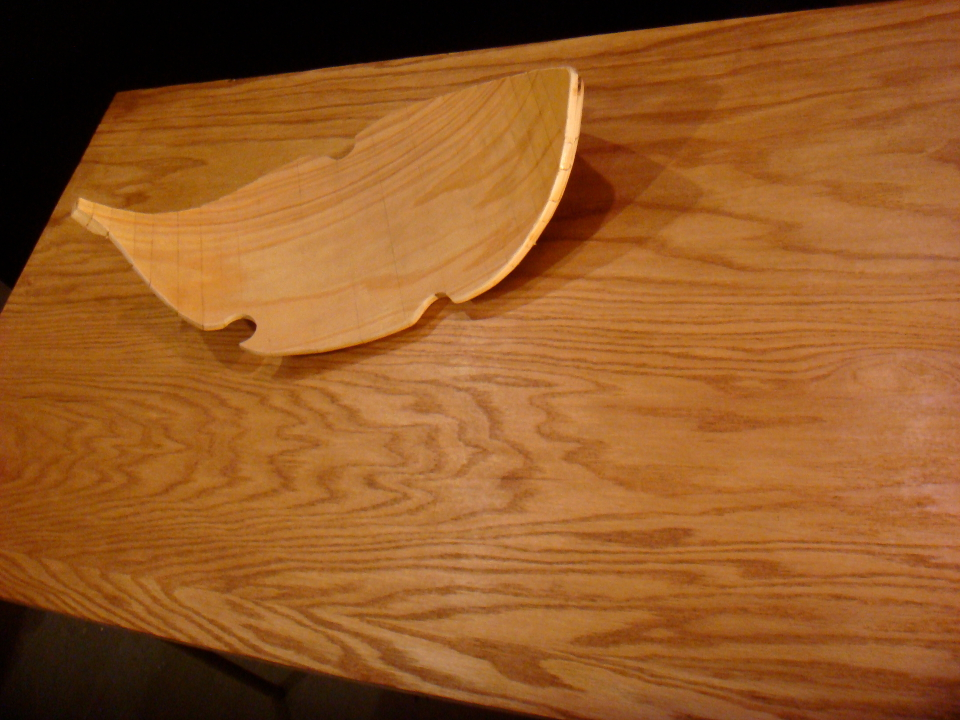 Custom Cathedral Grain Table and Leaf Tray