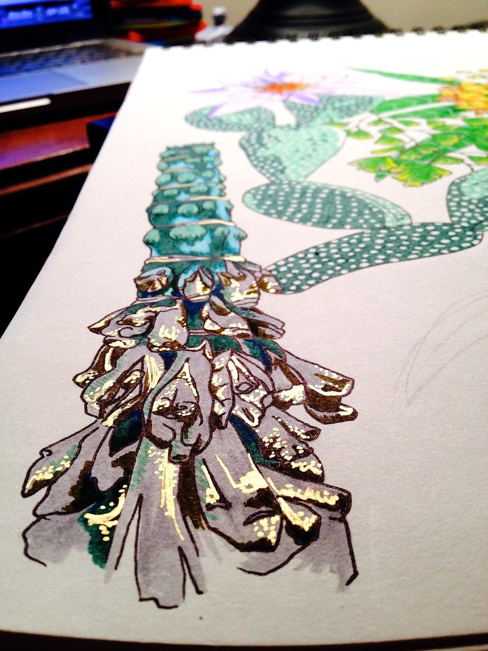 Botanical drawing (detail)
