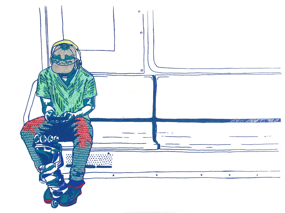 Subway Series  Screenprint; Ink on paper  2015  15 x 11.5 in