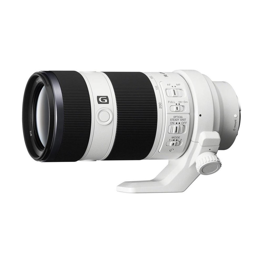 Sony 70-200 f/4 telephoto lens (FE)- this is a great option for wedding and sports photographers that offers excellent auto focus and sharp results.  While not as sharp or fast as it's G master counterpart, it is $1,000 less and delivers a lot of value for the price.