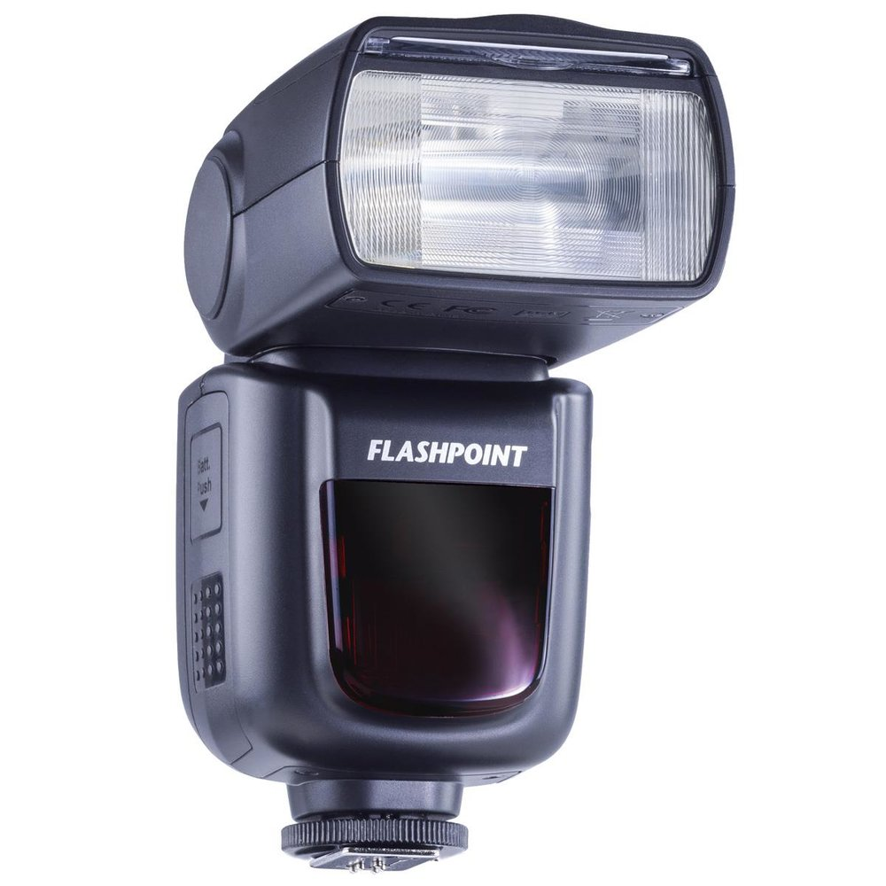 Flashpoint Speedlight- this flash is a lithium battery powered flash that delivers long lasting consistent results and is only 25% the price of it's Sony, Nikon and Canon counterparts.  What's even better is that it has a receiver built in that works with the R2 transmitter (the one used for the Flashpoint Xplor 600) meaning you can either put the flash directly on your camera, or you can use it as an off camera flash with the R2 transmitter!  There are manual and TTL versions of this flash.  This is an incredible value, well built, and you don't need to burn through your AA batteries like traditional flashes. Jason uses the manual version of the speedlight as he doesn't use TTL in his work.