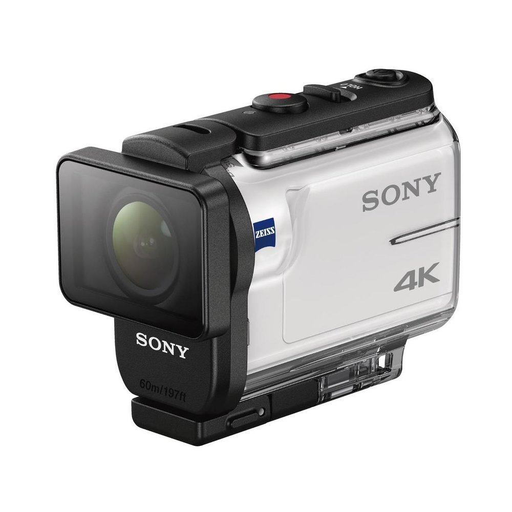 Sony 4K Action Camera-  this is the main action camera that Jason uses to capture 4k and 1080p action footage.  It's waterproof, has a tripod thread on the bottom to easily mount, can take intervaled shots so you can create your own production Behind the Scenes images and more.  With it's Optical Steady Shot it is truly a leader in the action camera industry and delivers beautiful results!