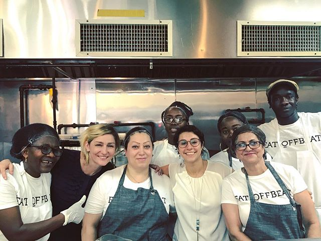 Such a joy to be in the kitchen with this awesome group of #chefs today, EVEN in 100 degree heat! Check out @eatoffbeat (if you haven't already) - they're delivering authentic and home-style ethnic meals that are conceived, prepared and delivered by #refugees resettled in #NYC. Big thanks to @penn_csis for looping us in on this project. Stay tuned for more, coming soon!