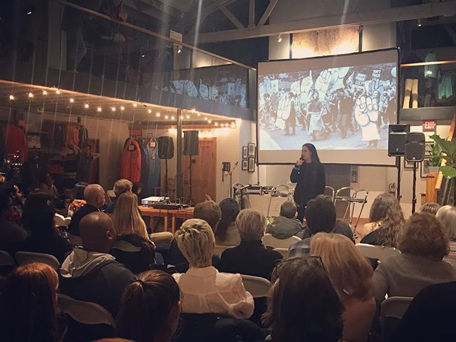 """The power to change the world is in each of our hands."" - @xiuhtezcatl with @patagoniaactionworks #answerwithaction"