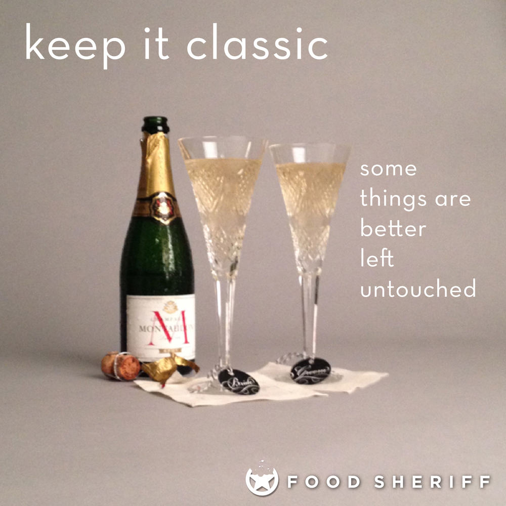 Why mess with a classic? Pair a great champagne with beautiful cut crystal flutes for a toast without compare.