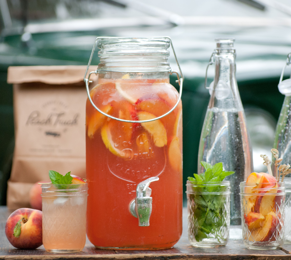 Food Sheriff | Recipe Development | Sparkling Peach Sangria