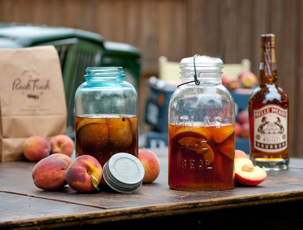 Food Sheriff | Recipe Development | Peach-Infused Bourbon