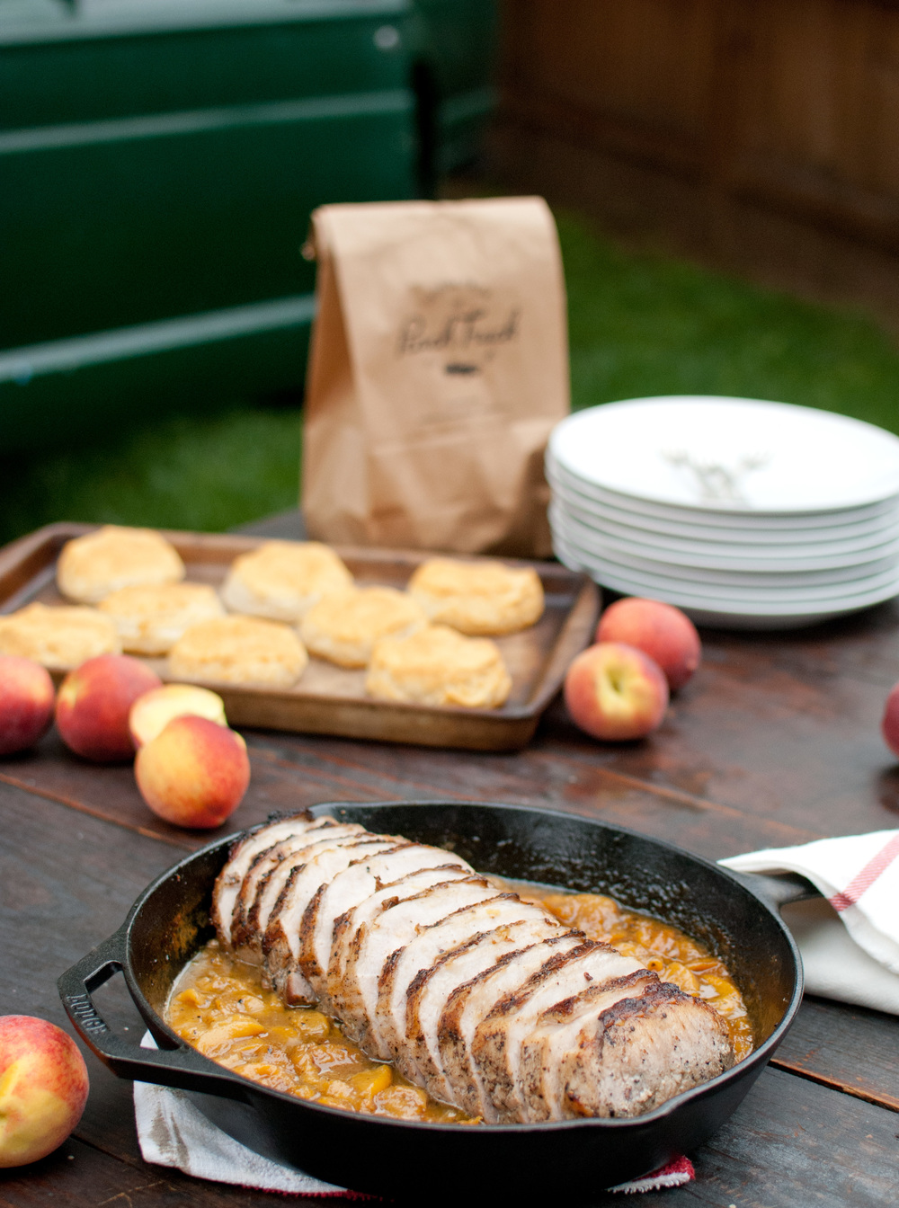 "Food Sheriff | Recipe Development | Roast Pork Loin with Peach ""Pan Jam"""