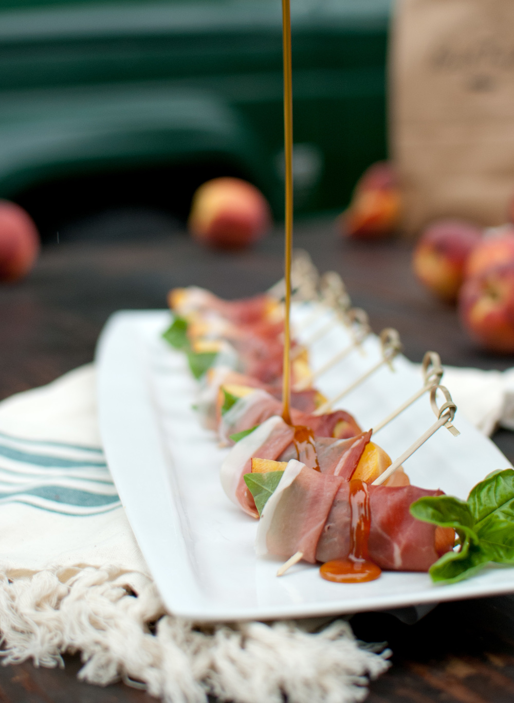 Food Sheriff | Recipe Development | Proscuitto-Wrapped Peaches with Sorghum