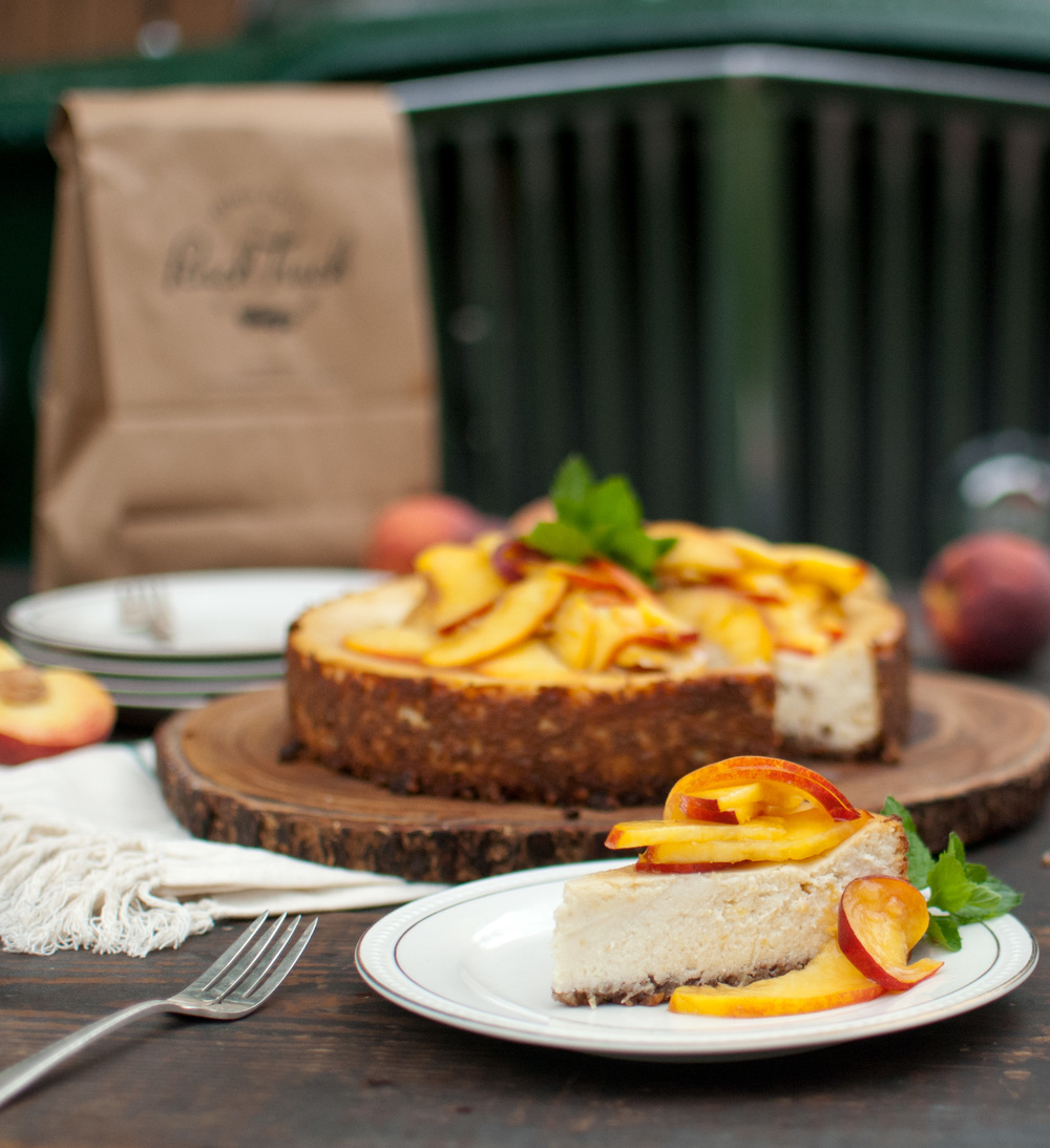 Food Sheriff | Recipe Development | Ricotta Cheesecake with Fresh Peaches
