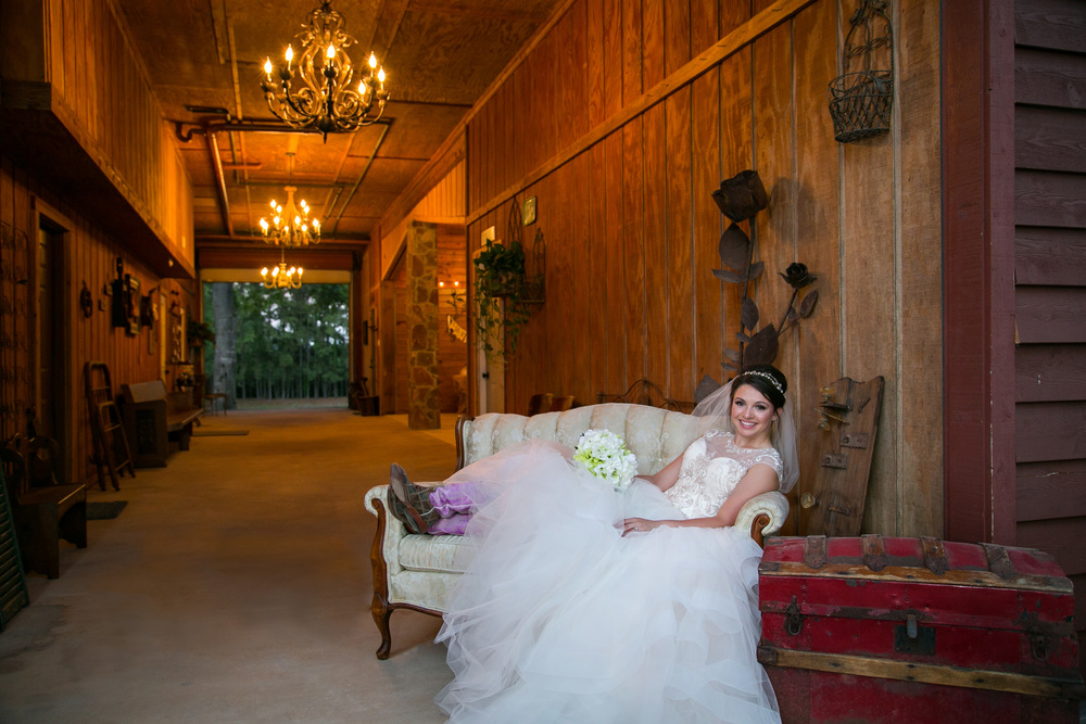 A model bride from a photo shoot taken in our beautiful breezeway.
