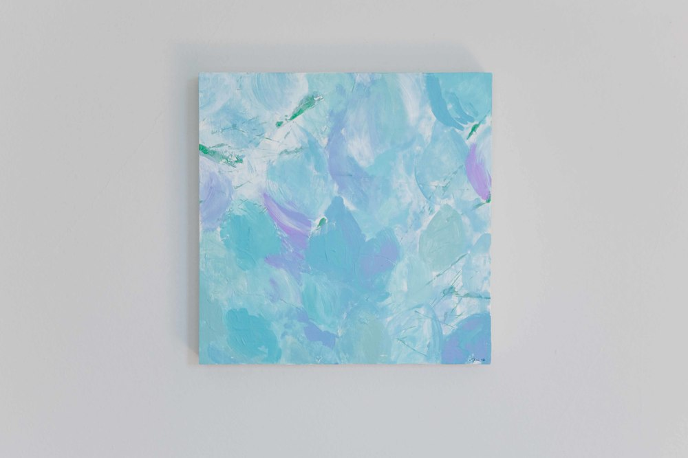 Nigella. Acrylic on birch panel . 12 x 12 inches . $230.