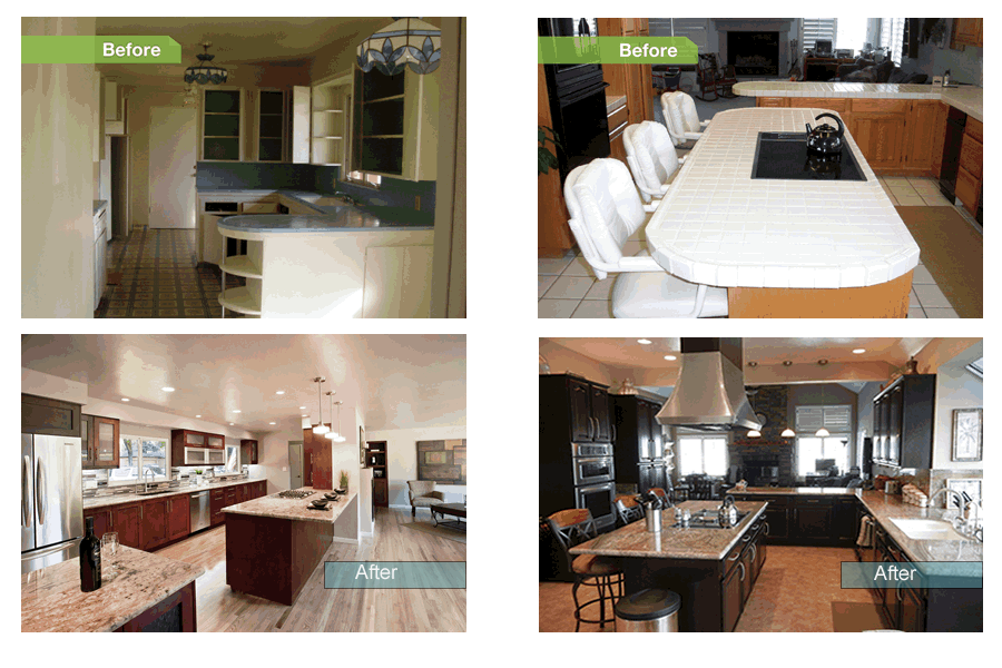 What a dramatic difference a new kitchen can make!                                         24 Dramatic (real) kitchen makeovers posted on Houzz!                                                          (for photo details)
