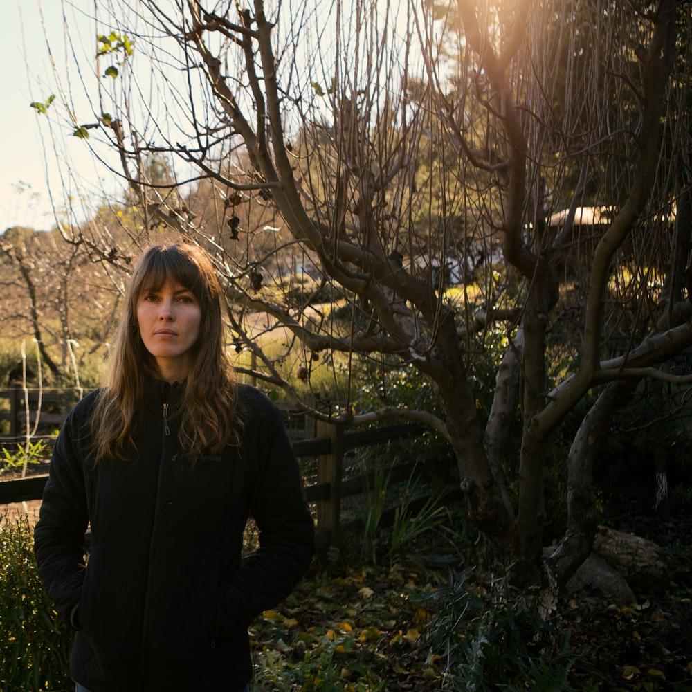 Jessie in the garden.