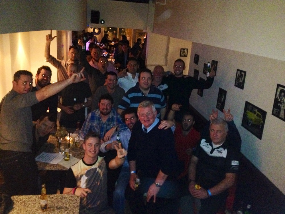 Godfather players enjoying a night out and toasting 2013...!