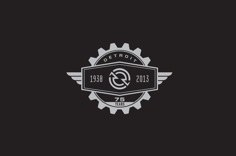 DETROIT ENGINES 75 ANNIVERSARY LOGO
