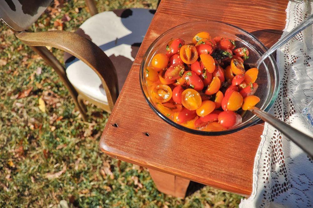 Sarah's tomato salad with balamic vinaigrette